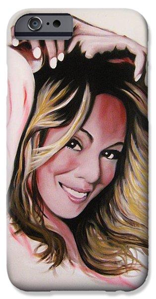 Mariah Carey iPhone Cases - Mariah Carey iPhone Case by Richard Garnham