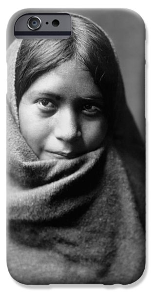 1907 iPhone Cases - Maricopa Indian woman circa 1907 iPhone Case by Aged Pixel