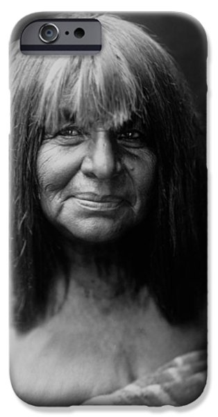 Blanket iPhone Cases - Maricopa Indian Women circa 1907 iPhone Case by Aged Pixel