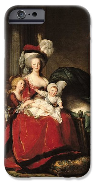 Charlotte iPhone Cases - Marie Antoinette and her Children iPhone Case by Elisabeth Louise Vigee-Lebrun
