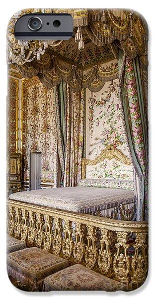 Marie Antoinette Bedroom iPhone Case by Brian Jannsen