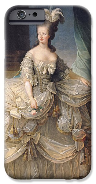 Royalty iPhone Cases - Marie Antoinette Queen of France iPhone Case by Elisabeth Louise Vigee-Lebrun