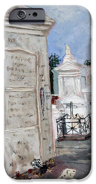 Cemetary iPhone Cases - Marie Laveau iPhone Case by Robert Sutton