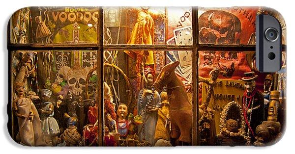 Voodoo Shop iPhone Cases - Marie Laveauxs VooDoo Shop   #4201 iPhone Case by J L Woody Wooden