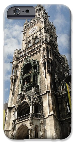 Marienplatz iPhone Cases - Marienplatz 2 iPhone Case by Mike Mihalik