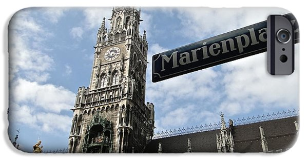 Marienplatz iPhone Cases - Marienplatz iPhone Case by Mike Mihalik