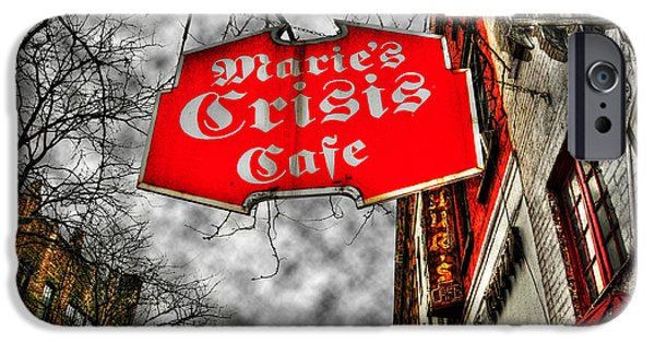 Best Sellers -  - Historic Site iPhone Cases - Maries Crisis Cafe iPhone Case by Randy Aveille