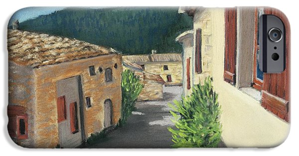Village Pastels iPhone Cases - Marignac-en-Diois iPhone Case by Anastasiya Malakhova