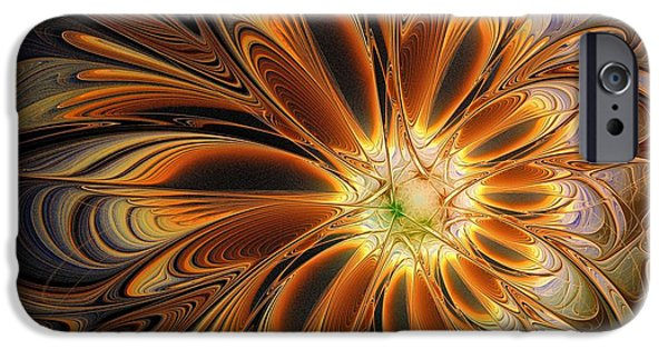 Floral Digital Art Digital Art Digital Art iPhone Cases - Marigold iPhone Case by Amanda Moore