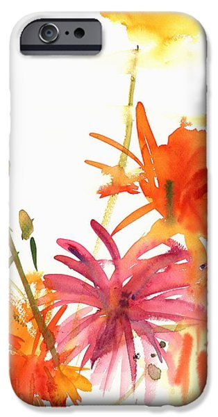 Tasteful Art iPhone Cases - Marigolds and Other Flowers iPhone Case by Claudia Hutchins-Puechavy
