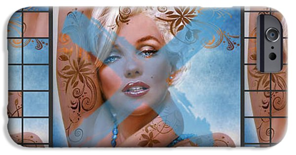 Theo Danella iPhone Cases - Marilyn 127 Tryp iPhone Case by Theo Danella