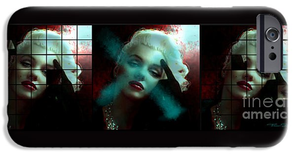 Theo Danella iPhone Cases - Marilyn 128 Tryp  iPhone Case by Theo Danella