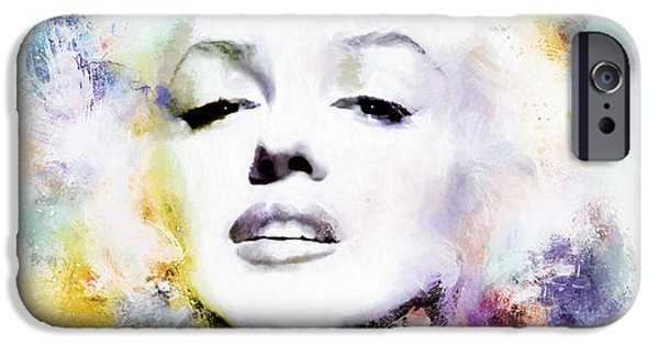 Cultural Icon iPhone Cases - Marilyn American Beauty iPhone Case by Shanina Conway