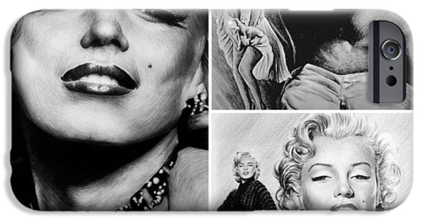 1950s Movies iPhone Cases - Marilyn collage iPhone Case by Andrew Read