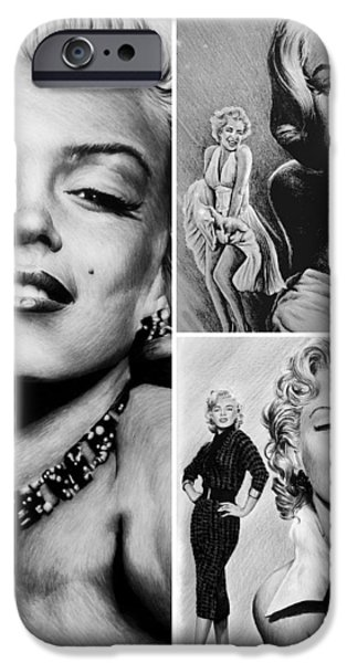 Marilyn collage iPhone Case by Andrew Read