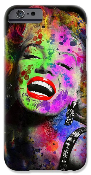 Beauty Mark Digital iPhone Cases - Marilyn iPhone Case by Daniel Hagerman