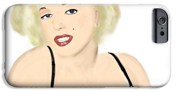 Munroe iPhone Cases - Marilyn iPhone Case by Helen Bowman