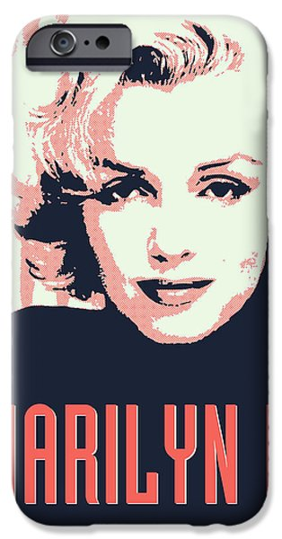 Sex Digital iPhone Cases - Marilyn M iPhone Case by Chungkong Art