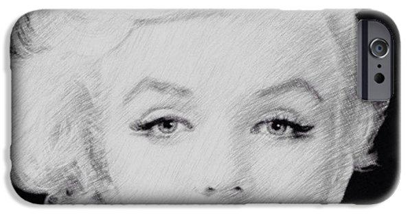 Resilience iPhone Cases - Marilyn Monroe 1 iPhone Case by Lisa Piper Menkin Stegeman