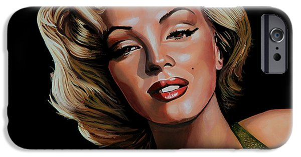 Marilyn Portrait iPhone Cases - Marilyn Monroe 2 iPhone Case by Paul  Meijering