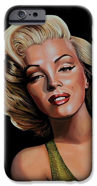 Best Friend iPhone Cases - Marilyn Monroe 2 iPhone Case by Paul  Meijering