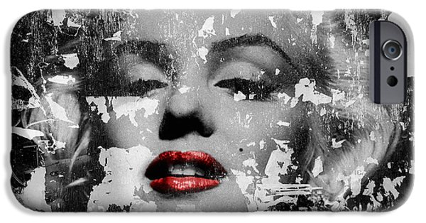 Lips iPhone Cases - Marilyn Monroe 5 iPhone Case by Andrew Fare