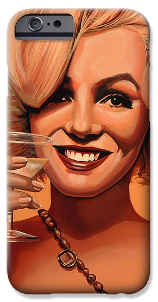 Best Friend iPhone Cases - Marilyn Monroe 5 iPhone Case by Paul  Meijering
