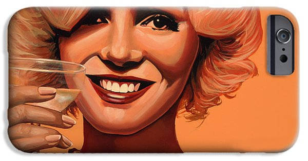 Marilyn Portrait iPhone Cases - Marilyn Monroe 5 iPhone Case by Paul  Meijering