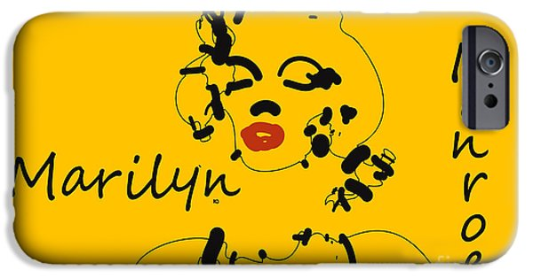 Pixelchimp Digital iPhone Cases - Marilyn Monroe Abstract iPhone Case by Pixel Chimp