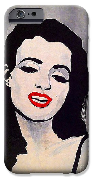 Marilyn Monroe Aka Norma Jean Artistic Impression iPhone Case by Saundra Myles