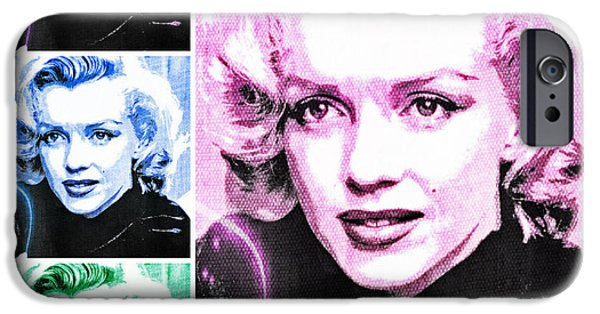 1950s Movies iPhone Cases - Marilyn Monroe Art Collage iPhone Case by Absinthe Art By Michelle LeAnn Scott