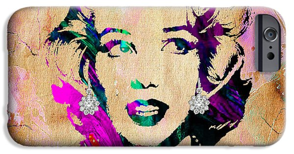 Marilyn iPhone Cases - Marilyn Monroe Collection iPhone Case by Marvin Blaine