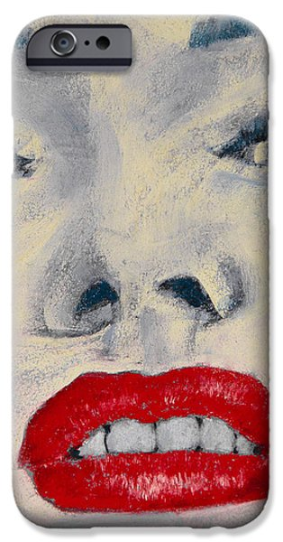 Marilyn Monroe iPhone Case by David Patterson