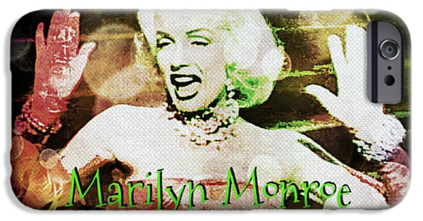 1950s Movies iPhone Cases - Marilyn Monroe Film iPhone Case by Absinthe Art By Michelle LeAnn Scott