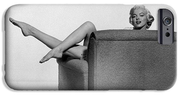 1950s Movies iPhone Cases - Marilyn Monroe in The Seven Year Itch iPhone Case by Nomad Art And  Design