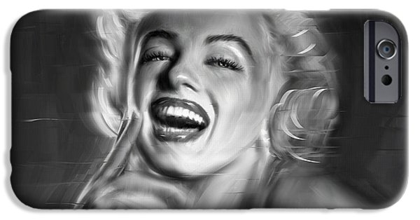 Munroe iPhone Cases - Marilyn Monroe iPhone Case by Linton Hart