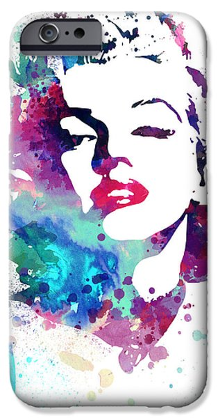 Marilyn Portrait iPhone Cases - Marilyn Monroe iPhone Case by Luke and Slavi