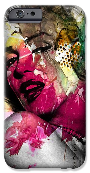 Famous Figures iPhone Cases - Marilyn Monroe iPhone Case by Mark Ashkenazi