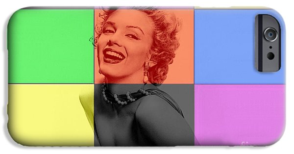 Marilyn iPhone Cases - Marilyn Monroe iPhone Case by Marvin Blaine