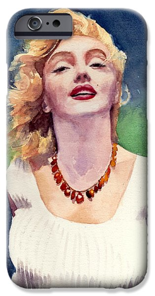 Fame Drawings iPhone Cases - Marilyn Monroe iPhone Case by Max Good
