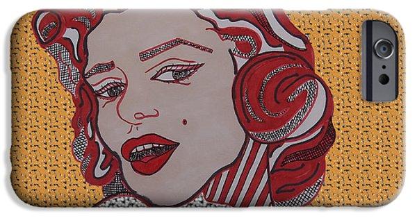 Mr. President iPhone Cases - Marilyn Monroe Orange iPhone Case by Karen Larter