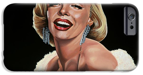 Marilyn Portrait iPhone Cases - Marilyn Monroe iPhone Case by Paul  Meijering