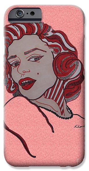 Mr. President iPhone Cases - Marilyn Monroe Pink iPhone Case by Karen Larter