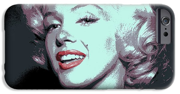 Beauty Mark Digital iPhone Cases - Marilyn Monroe Pop Art iPhone Case by Daniel Hagerman