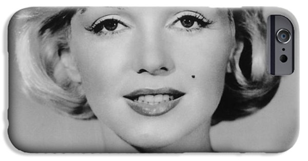 1950s Portraits Digital iPhone Cases - Marilyn Monroe Studio Portrait iPhone Case by Nomad Art And  Design