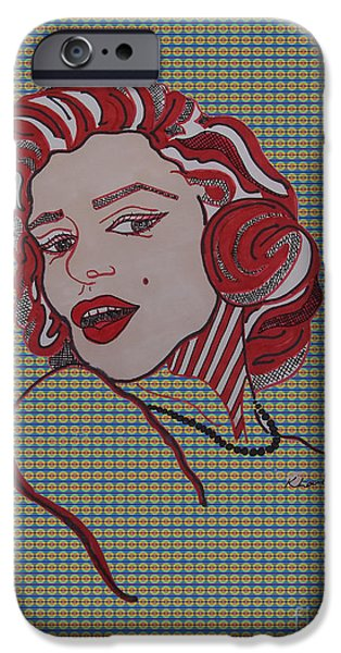 Mr. President iPhone Cases - Marilyn Monroe Tartan iPhone Case by Karen Larter