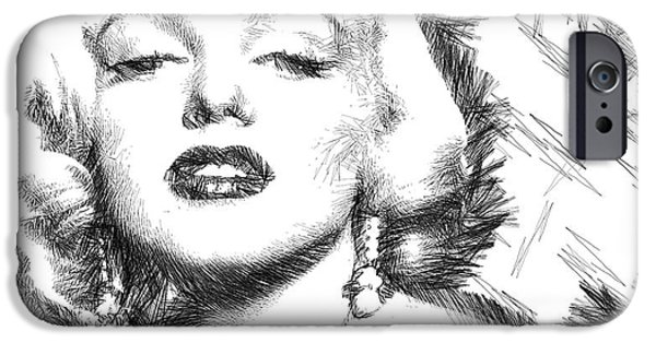 Model iPhone Cases - Marilyn Monroe - The One and Only  iPhone Case by Rafael Salazar