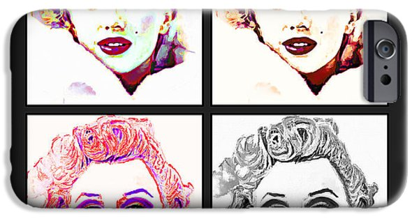 Mr. President iPhone Cases - Marilyn Monroe Warhol Style iPhone Case by Ana Raez