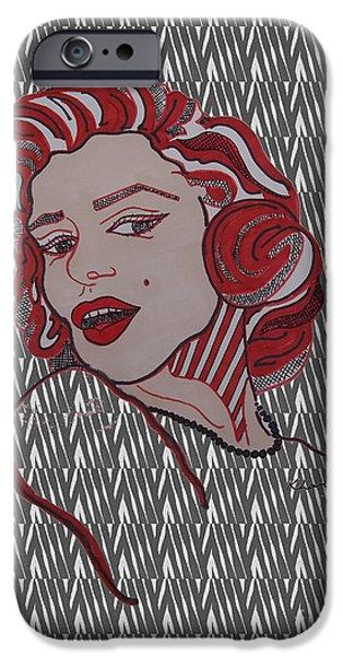 Mr. President iPhone Cases - Marilyn Monroe Zebra iPhone Case by Karen Larter