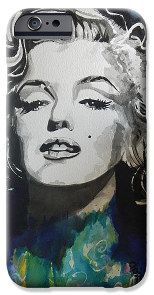 Marilyn Monroe..2 iPhone Case by Chrisann Ellis